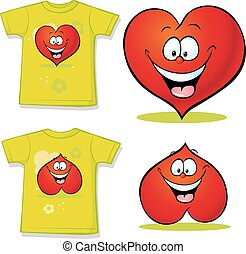 心, ワイシャツ, 赤, 漫画
