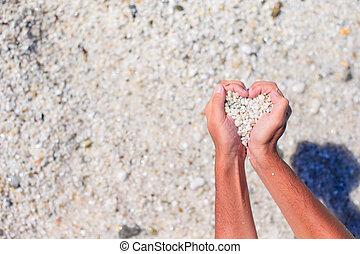 心, 作られた, によって, 手