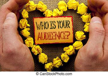 心, 写真, ねばねばしたペーパー, 研究, あなたの, サービス, 執筆, メモ, 書かれた, 指, 保有物, 概念, ビジネス, 提示, question., 手, 顧客, 対象者層, クライアント, showcasing