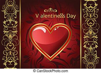 心, 創造的, グリーティングカード, バレンタイン