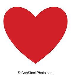 心, 単純である, 現代, 最新流行である, ロゴ, デザイン, 網, concept., 隔離された, バックグラウンド。, インターネット, シンボル, 赤, ウェブサイト, 平ら, 印。, ビジネス, アイコン, illustration., モビール, ボタン, app., ベクトル