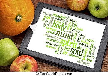 心, 単語, 体, 精神, 雲, 精神