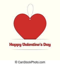心, 幸せ, 日, カード, バレンタイン