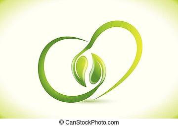 心, 性质, 形状, 矢量, 健康, 标识语