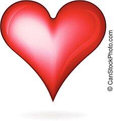 心, 愛, グロッシー, ロゴ