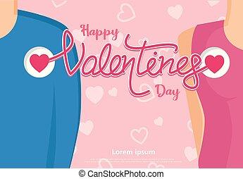心, 愛, ミニ, バレンタイン, 背景, 日, 幸せ
