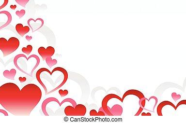 心, 愛, ロマンチック, 背景