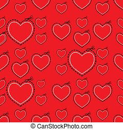 心, 愛, 赤, テンプレート