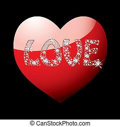 心, 愛, 赤