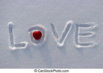 心, 愛, 雪, 詞, 紅色