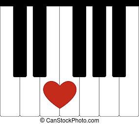 心, 愛, 音楽