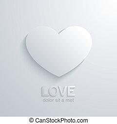 心, 愛, concept., デザイン, 結婚式, template., カード