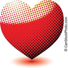 心, 愛, halftone