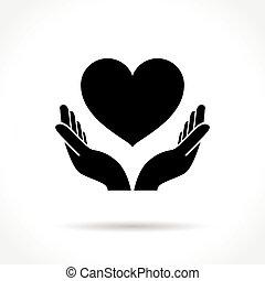 心, 手, 图标