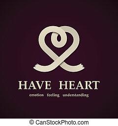 心, 抽象的, ベクトル, デザイン, テンプレート, シンボル