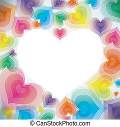 心, 抽象的, 愛, 背景