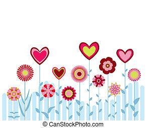 心, 抽象的, 花