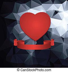 心, 抽象的, 赤, バックグラウンド。
