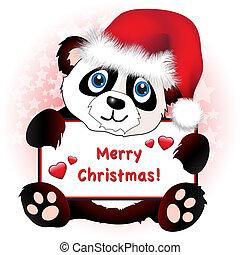 心, 旗幟, 聖誕節, 熊貓