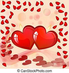 心, 日, カード, valentin`s
