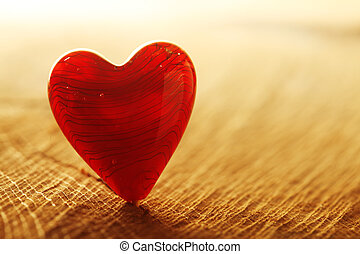 心, 明亮的紅色, 背景
