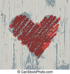 心, 木製である, シンボル, バックグラウンド。, 抽象的, 手ざわり