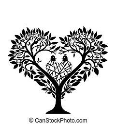 心, 木, 形態
