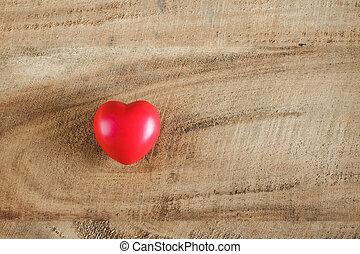 心, 木, 赤, 手ざわり, バックグラウンド。