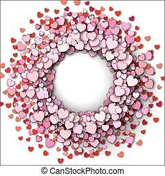 心, 框架, 輪, 紅色