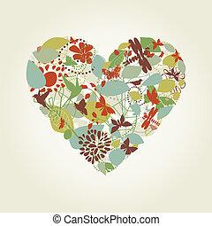 心, 植物