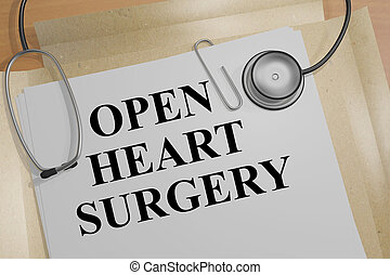 心, 概念, -, 健康, 手術, 開いた