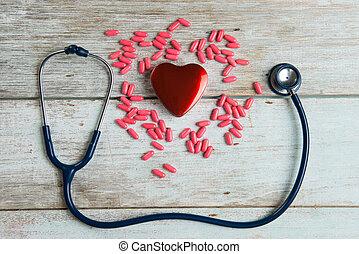 心, 概念, 聴診器, ヘルスケア