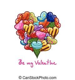 心, 漫画, グリーティングカード, バレンタイン