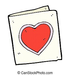 心, 漫画, 愛, 漫画, カード