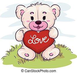 心, 熊, 保有物, テディ