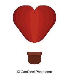 心, 熱気球, 形づくられた