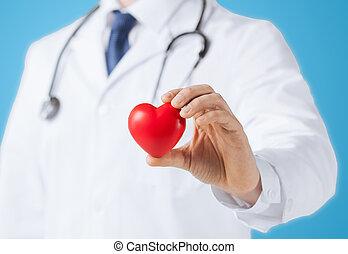 心, 男性の医者