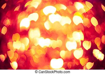 心, 發光, 紅色, 背景