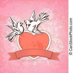 心, 白, 鳩, 2, 赤