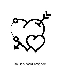 心, 矢量, 箭图标