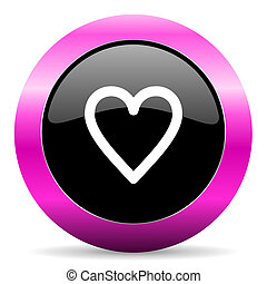 心, 粉紅色, 有光澤, 圖象