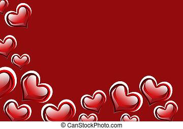 心, 紅的背景