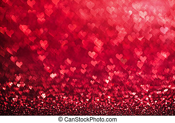 心, 紅色, 背景