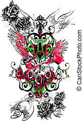 心, 紋章, 天使, キー, 皇族