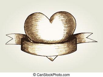 心, 紋章