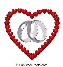 心, 結婚指輪
