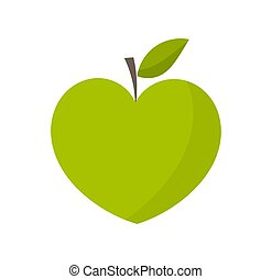 心, 緑のリンゴ, 形づくられた