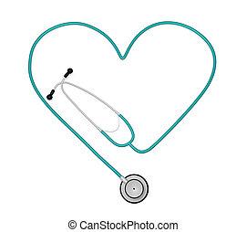 心, 聽診器