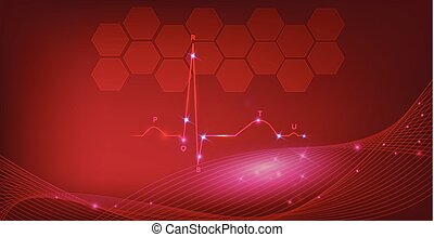 心, 背景, 正常, 抽象的, cardiogram, リズム