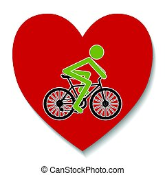 心, 自転車